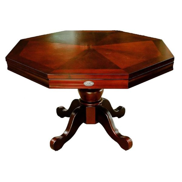 3 in 1 Octagon Combination Table - 54 inch Mahogany 4
