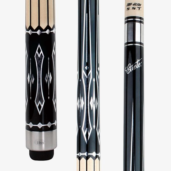 Cuetec Pool Cues - White and Silver