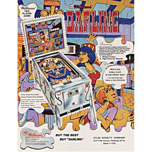 Darling Pinball Machine by Williams