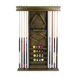 Deluxe Wall Cue Rack Cappuccino