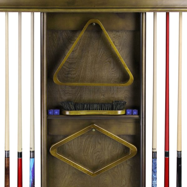 Deluxe Wall Cue Rack Cappuccino 3 600x600 - Deluxe Wall Cue Rack - Cappuccino