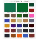 Eagle Pool Table Felt Color Options