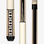 Lucasi Custom Carom Pool Cues – Geometric Shaped Abalone