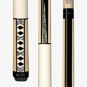 Lucasi Custom Carom Pool Cues - Geometric Shaped Abalone