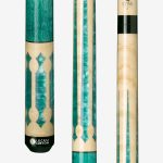 Lucasi Custom Pool Cues – Seafoam Green Birdseye Maple