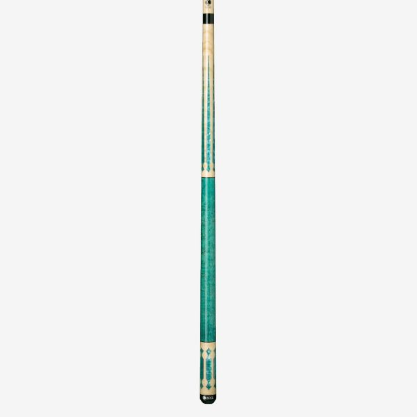 Lucasi Custom Pool Cues - Seafoam Green Birdseye Maple 2