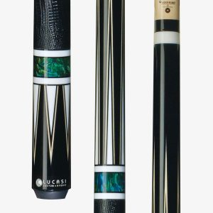 Lucasi Hybrid Pool Cues - Mystic Black Birdseye Maple