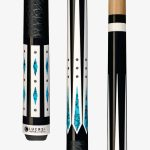 Lucasi Hybrid Pool Cues – Stone and Silver Crush Inlay