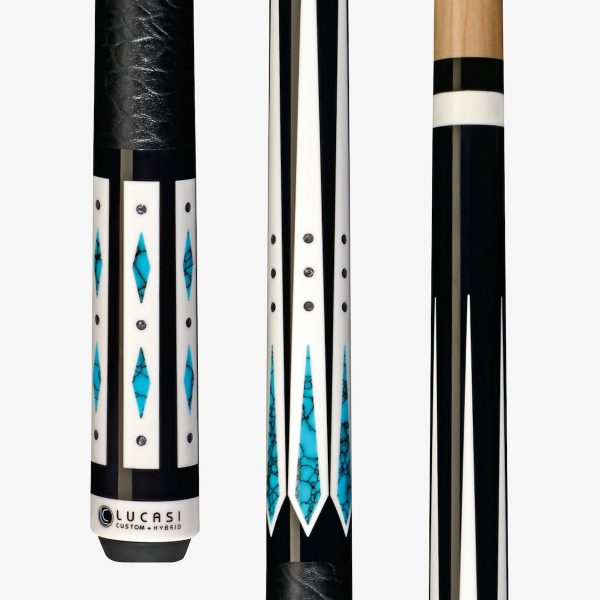 Lucasi Hybrid Pool Cues - Stone and Silver Crush Inlay