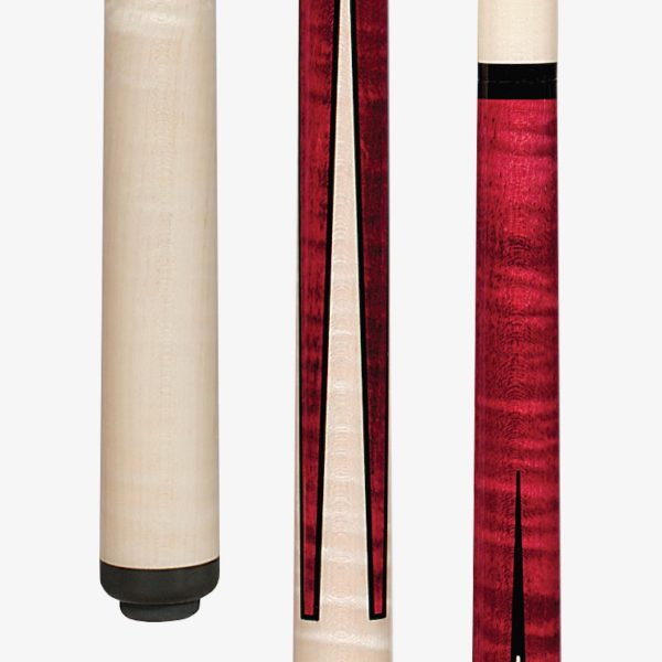 Pechauer Pool Cues - Wine Stained Curly Maple 1