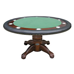 """Poker Table with Dining Top - 60"""" Dark Walnut 1"""