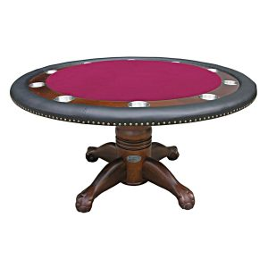 "Poker Table - 60"" Dark Walnut 4"