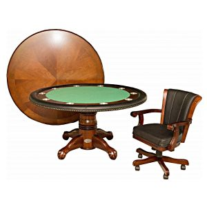 """Poker Table with Dining Top - 60"""" Dark Walnut 5"""