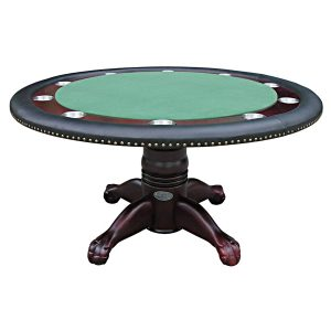 "Poker Table 60"" Mahogany 1"