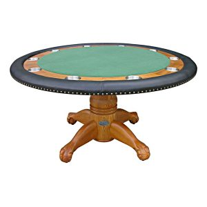 """Poker Table with Dining Top - 60"""" Oak 1"""