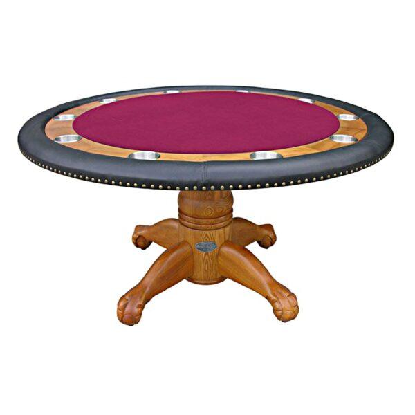 """Poker Table - 60"""" Oak 4"""