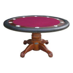 Round Poker Table 60 Inch - Antique Walnut