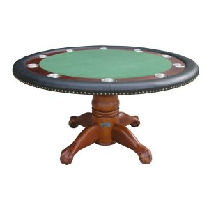 Round Poker Table 60 Inch Antique Walnut 300x300 - Round Poker Table – 60″ Antique Walnut