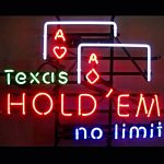 Texas Hold 'em No Limits Neon Sign