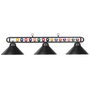 Three-Bulb Billiard Balls Light Fixture