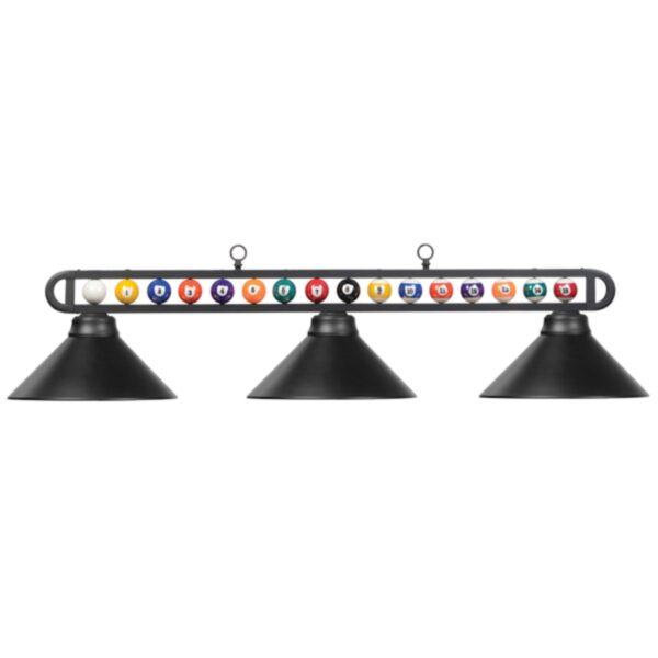 Three-Bulb Billiard Balls Light Fixture