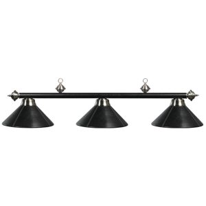 Three-Light Metal Billiard Light Fixture Black