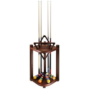 Corner Cue Rack Antique Walnut