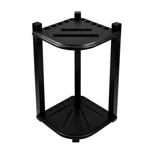 Double Thick Corner Cue Rack - Black
