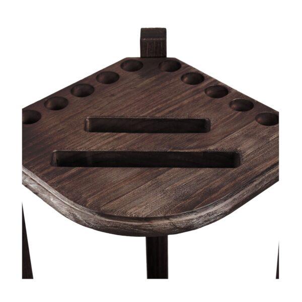 Double Thick Corner Cue Rack - Weathered Dark Chestnut