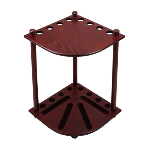 corner cue rack mahogony