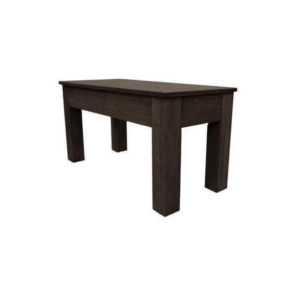 36″ Weathered Dark Chestnut Billiard Bench