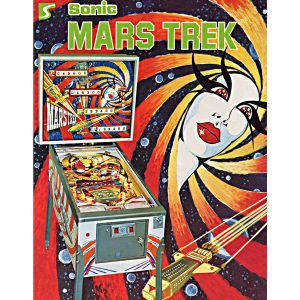 Mars Trek Pinball Machine Flyer