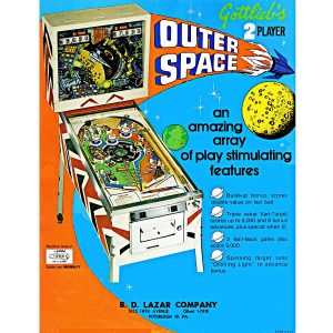 Outer Space Pinball Machine Flyer