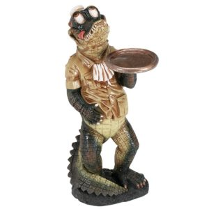 Alligator Waiter Statue