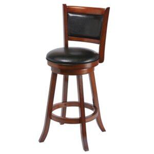 Backed Swivel Bar Stool Chestnut