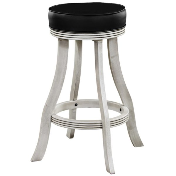 Backless Bar Stool Antique White