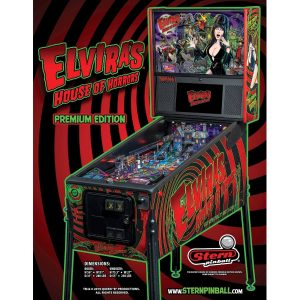 Elvira's House of Horrors Premium Pinball Flyer