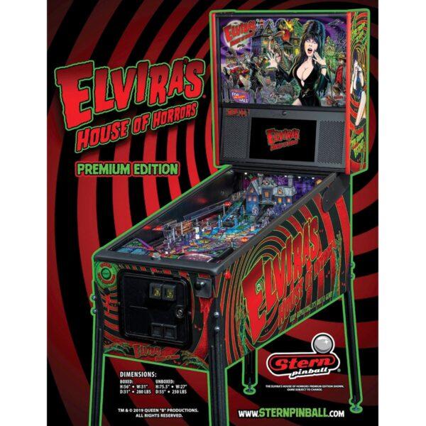 Elvira's House of Horrors Premium Pinball Flyer