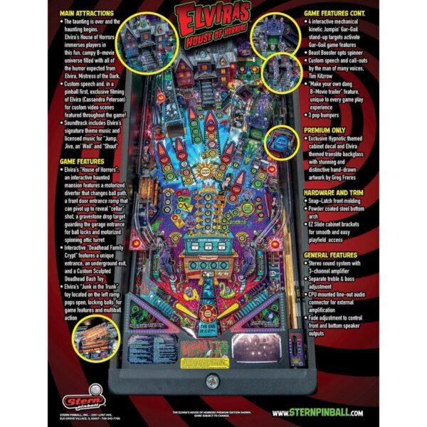 Elvira Premium Flyer 2 600x600 - Elvira's House of Horrors Premium Pinball Machine