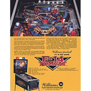 F-14 Tomcat Pinball Machine Flyer