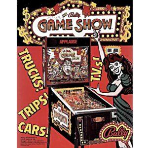 Game Show Pinball Machine Flyer