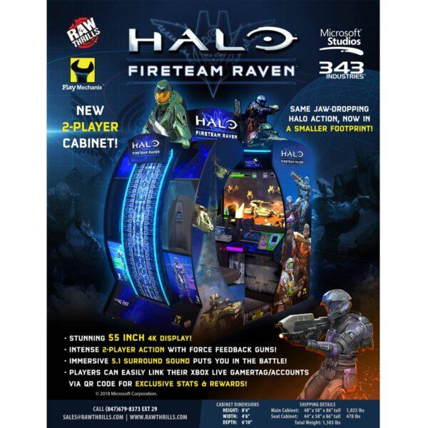 Halo Fireteam Raven Arcade Flyer