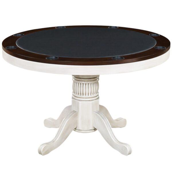 "Poker Table 48"" Antique White"