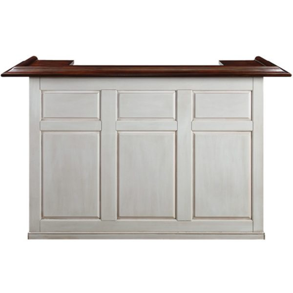 RAM Game Room Home Bar 72 Inch Antique White