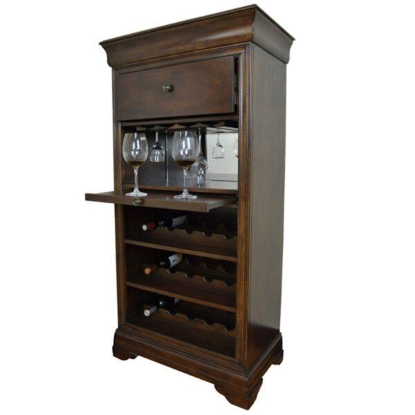 RAM Game Room Bar with Wine Rack