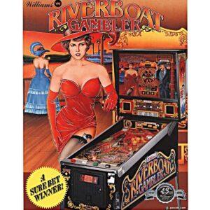 Riverboat Gambler Pinball Flyer