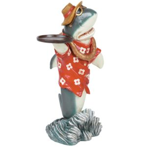 Shark Waiter Statue
