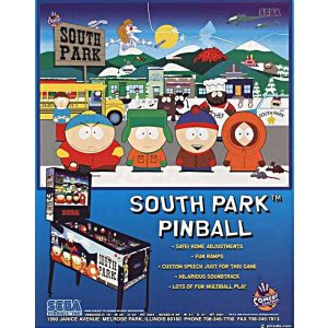 South Park Pinball Flyer 300x300 - South Park Pinball Machine