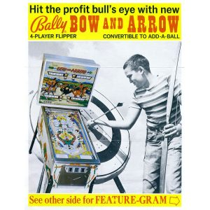 Bow and Arrow Pinball Machine Flyer