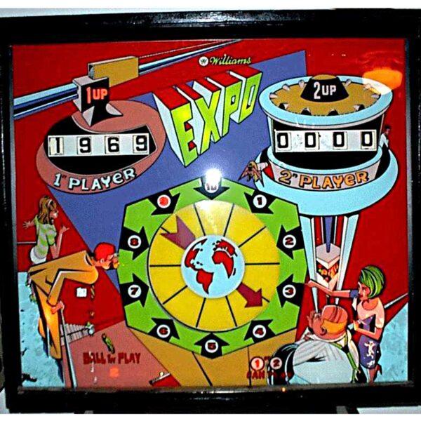 Expo Pinball Machine Backglass